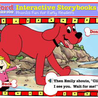 Clifford, the Big Red dog Interactive story books and games