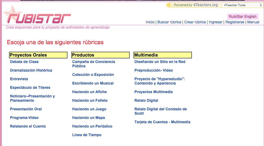 Rúbricas para Lengua » Recursos educativos digitales