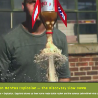 Slow Motion Mentos Explosion – The Discovery Slow Down