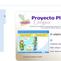 El adjetivo. Proyecto Descartes PI