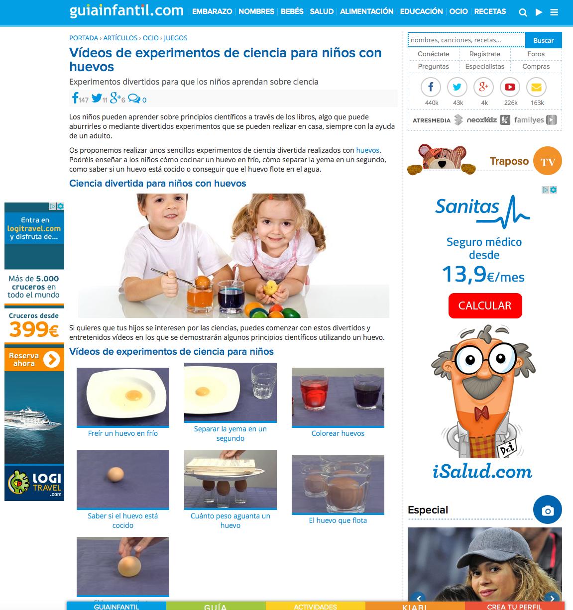 Experimentos de ciencias para niños » Recursos digitales educativos