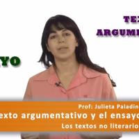 Texto argumentativo y ensayo