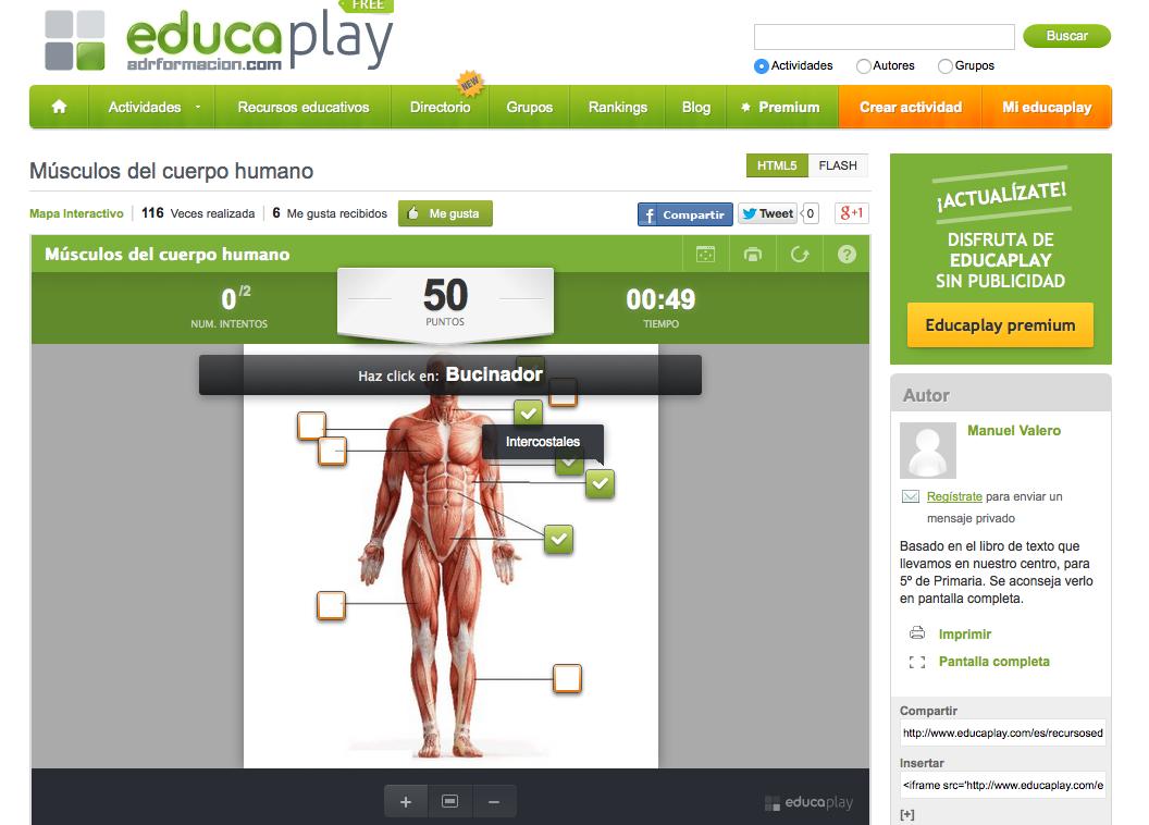 musculos del cuerpo humano » Recursos educativos digitales