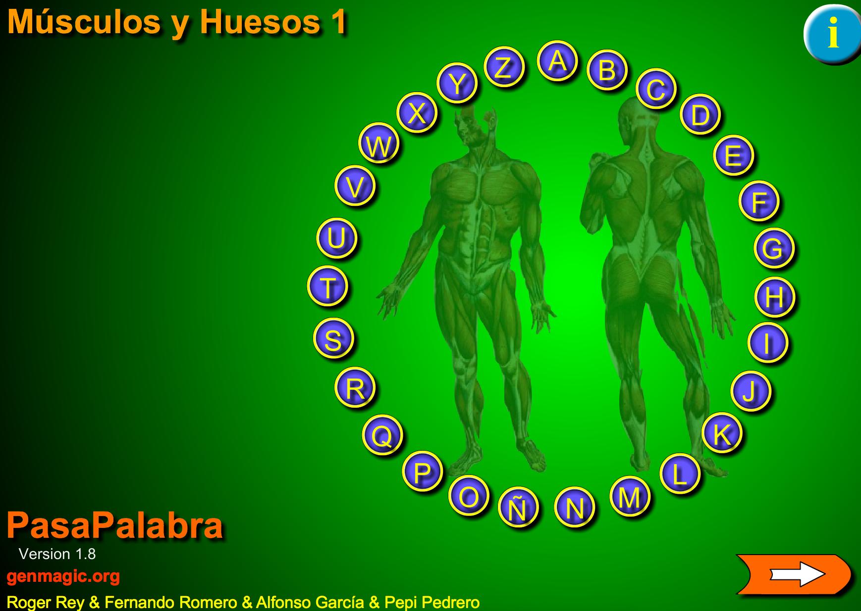 juego pasapalabras músculos y huesos » Recursos educativos digitales