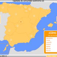 Capitales de Comunidades Autónomas - Mapa interactivo