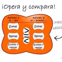 Opera y compara  (sumas y restas)
