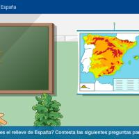 Relieve interior y costero de España