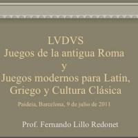 Juegos romano y juegos modernos para Latín, Griego y Cultura Clásica