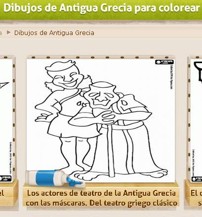 Dibujos de Antigua Grecia para colorear » Recursos educativos digitales