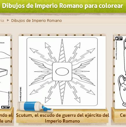Dibujos de Imperio Romano para colorear » Recursos educativos digitales