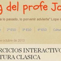 El bolg del profe Jaime. Ejercicios interactivos de Cultura Clásica