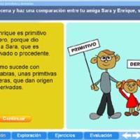 Palabras Primitivas y Derivadas. Proyecto Descartes PI