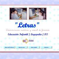 Letras. Discriminación visual y auditiva de fonemas.