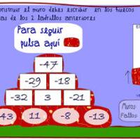 Construye el muro con sumas de números enteros
