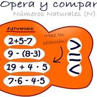 Opera-Compara Números Naturales