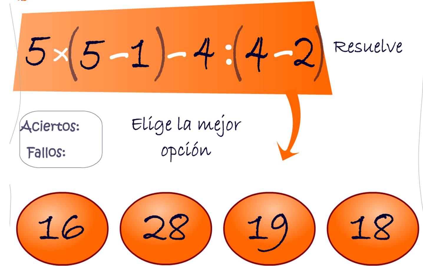 operaciones con números naturales (jerarquía) » Recursos ...