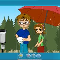 Precipitaciones y pluviómetro