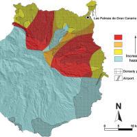 Mapa de peligrosidad volcánica de la isla de Gran Canaria