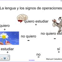 Regla de los signos con lengua