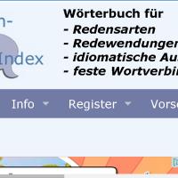 Redensarten-index - Wörterbuch