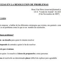 Estrategias Resolución de problemas