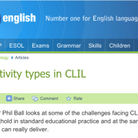 Activities type in CLIL