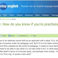 How do you know if you're practising CLIL?