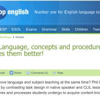 Language, concepts and procedures: Why CLIL does them better!