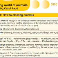 Amazing world of animals: Lesson 1: How to classify animals