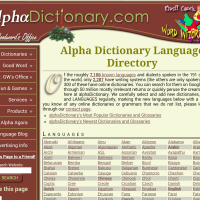 Alpha dicctionary language