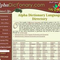 Alpha dicctionary language