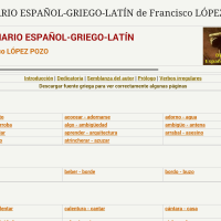 Diccionario español-griego-latín