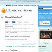 Teaching recipes