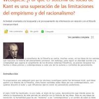 Webquest sobre Kant