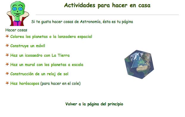 Astronomía para niños. » Recursos educativos digitales