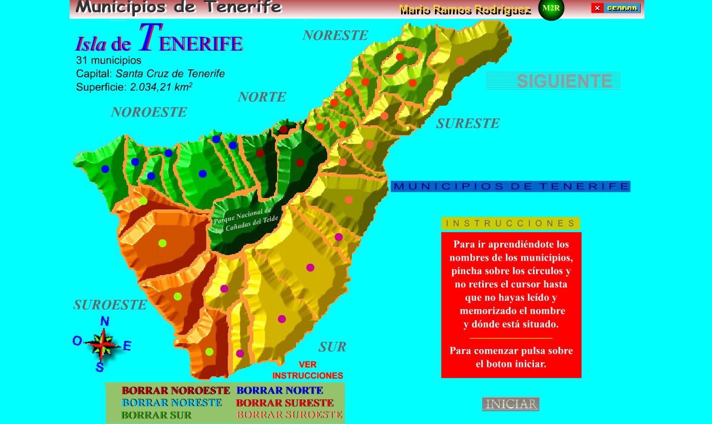 Mapa De Tenerife Municipios.Municipios Recursos Educativos Digitales
