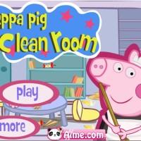Peppa Pig limpia su casa.