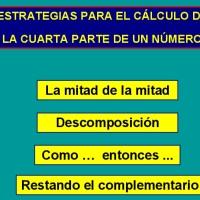La cuarta parte: estrategias de cálculo