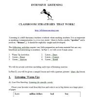 Intensive Listening Activities