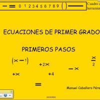 ecuaciones de primer grado, primeros pasos