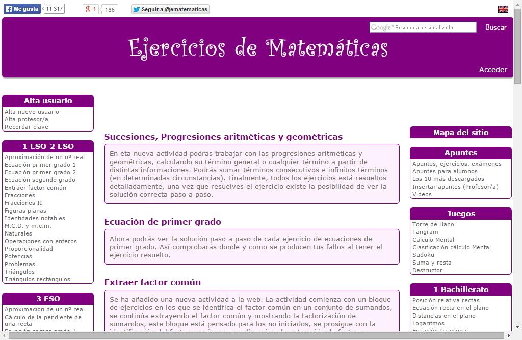 Ematemáticas » Recursos educativos digitales