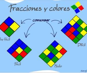 fracciones y porcentajes con colores