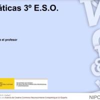 Matemáticas 3 E.S.O