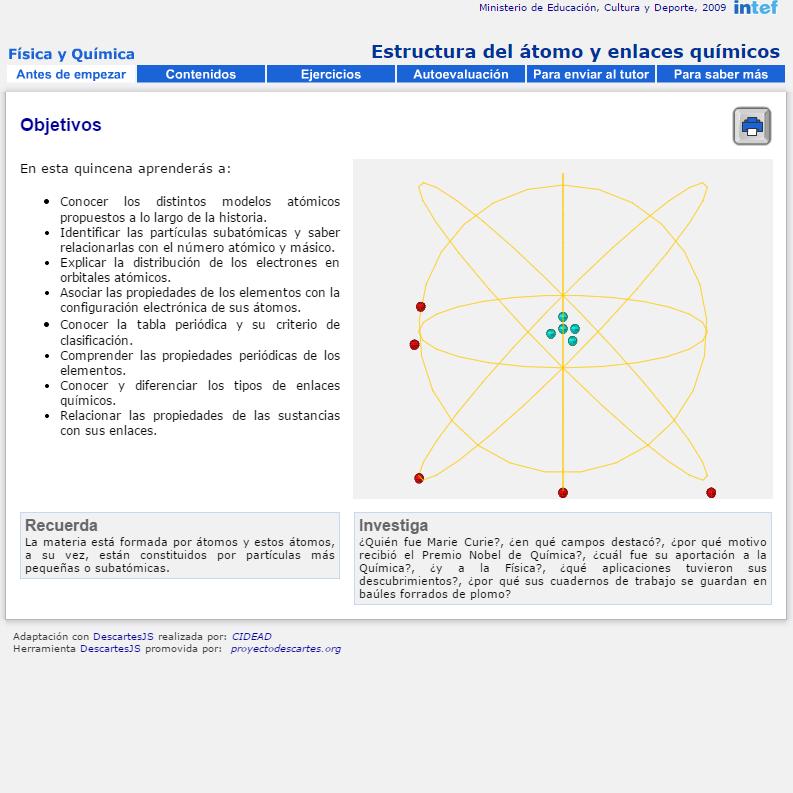 Tabla peridica recursos educativos digitales estructura del tomo y enlaces qumicos urtaz Choice Image
