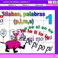 Lectura de sílabas y palabras 1