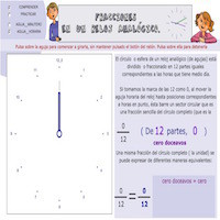 Fracciones en un reloj analógico