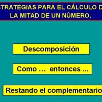 La mitad: estrategias de cálculo