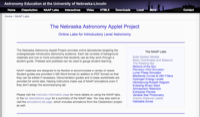 The Nebraska Astronomy Applet Project