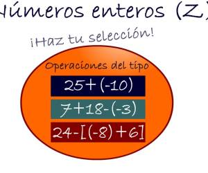 operaciones con nº enteros I (sumas y restas)