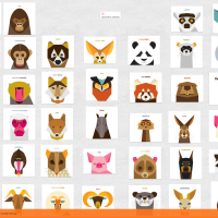 padlet. geometric animals